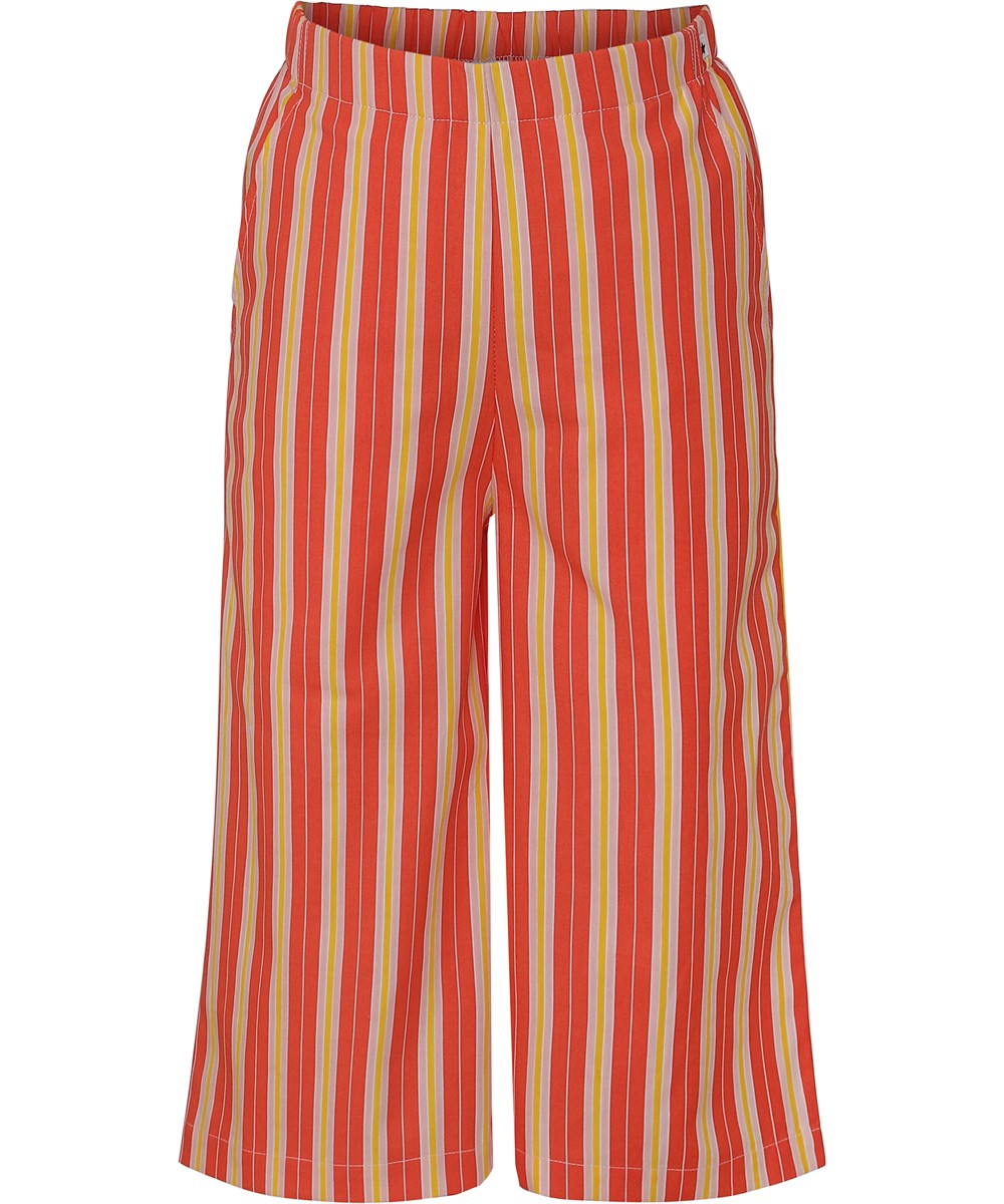 Alanis - Coral Sunrise Stripe - Trousers