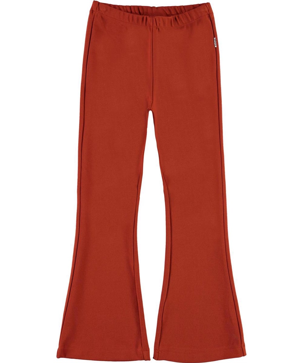 Alba - Burnt Ochre - Copper coloured trousers with flared legs
