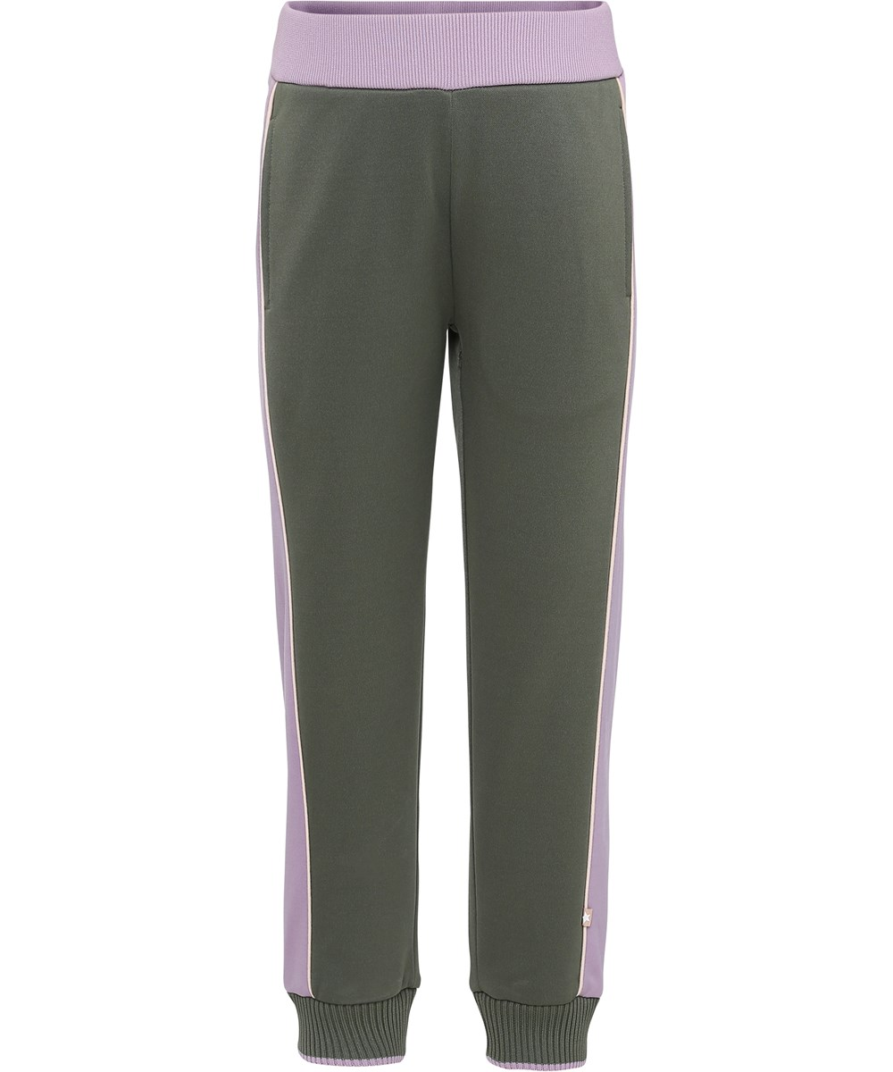 Aldora - Evergreen - Two coloured sweatpants.