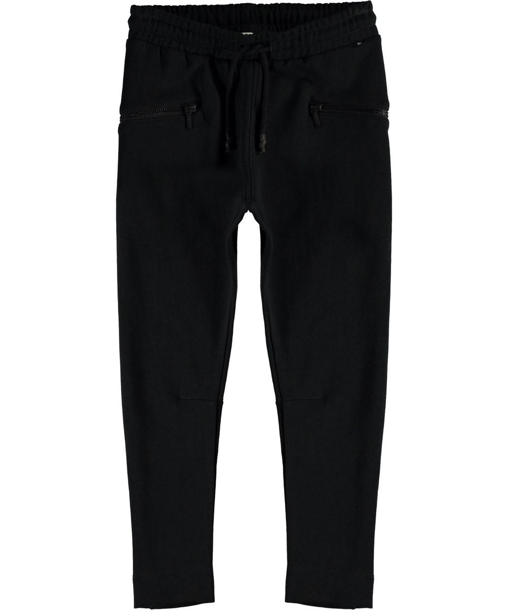 Alexa - Black - Sporty black sweatpants.