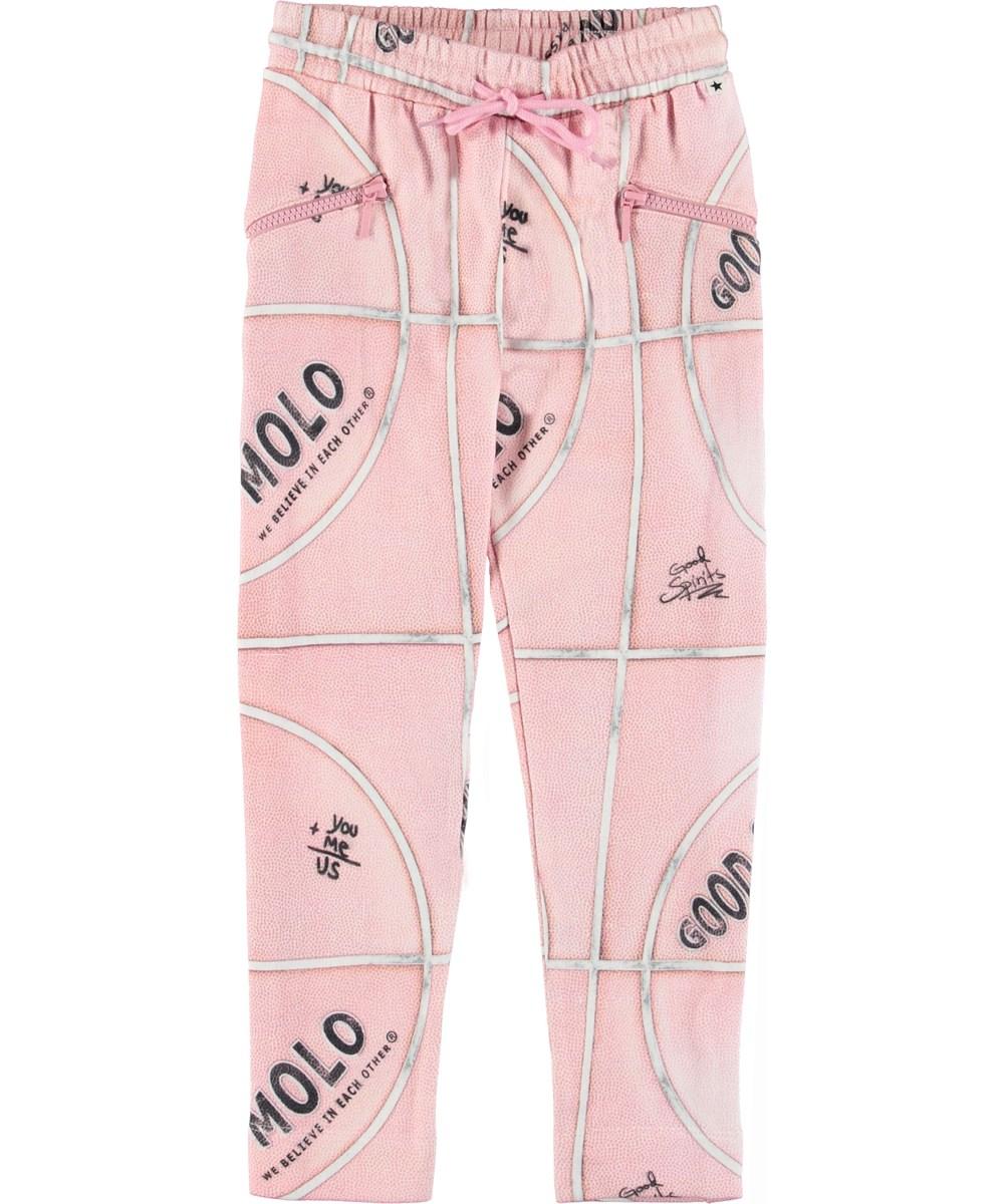Alexa - Pink Basketball - Sporty pink sweatpants.