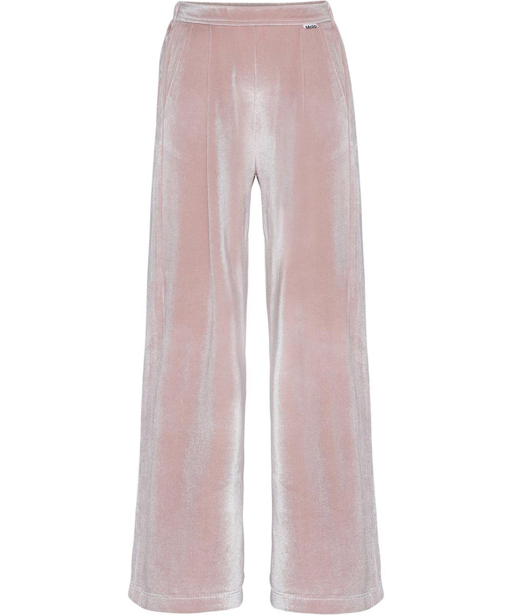Alfa - Petal Blush - Rose velour trousers