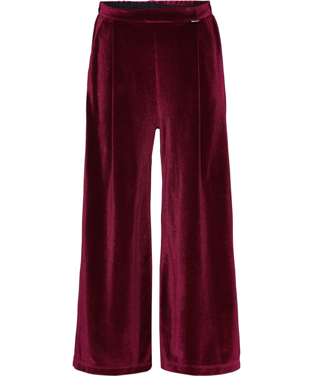 Alfa - Sumak - Dark red velvet trousers