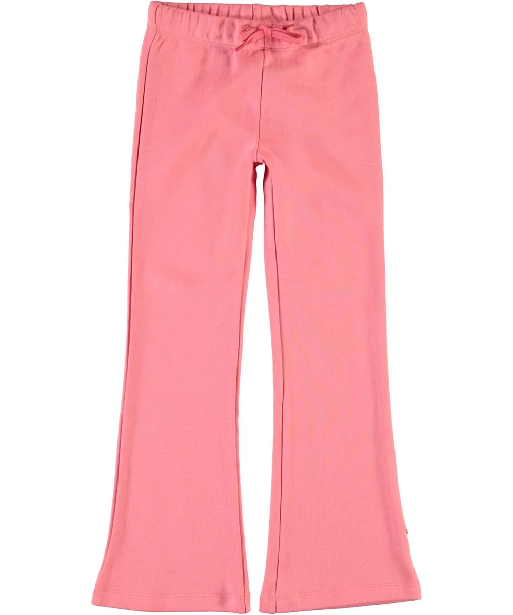 Alfreda - Hyper - Pink sweatpants with flare