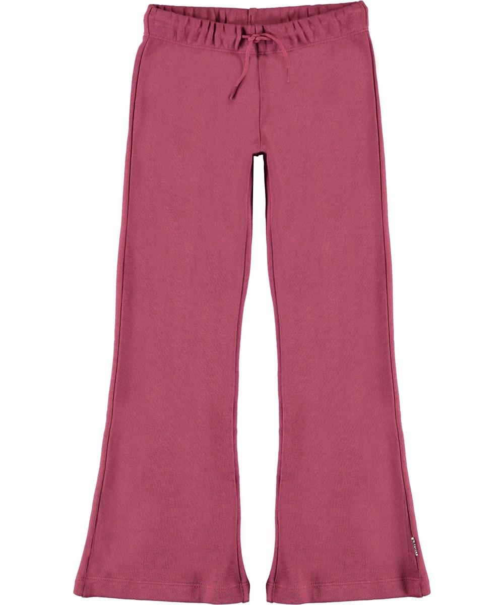 Alfreda - Raspberry Jam - Raspberry coloured sweatpants with flare