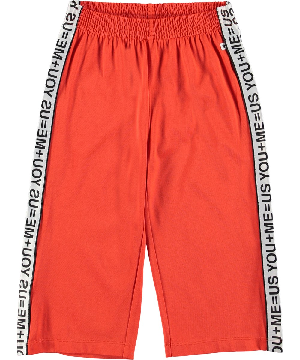 Aliecia - Cherry Tomato - Sporty red culottes.