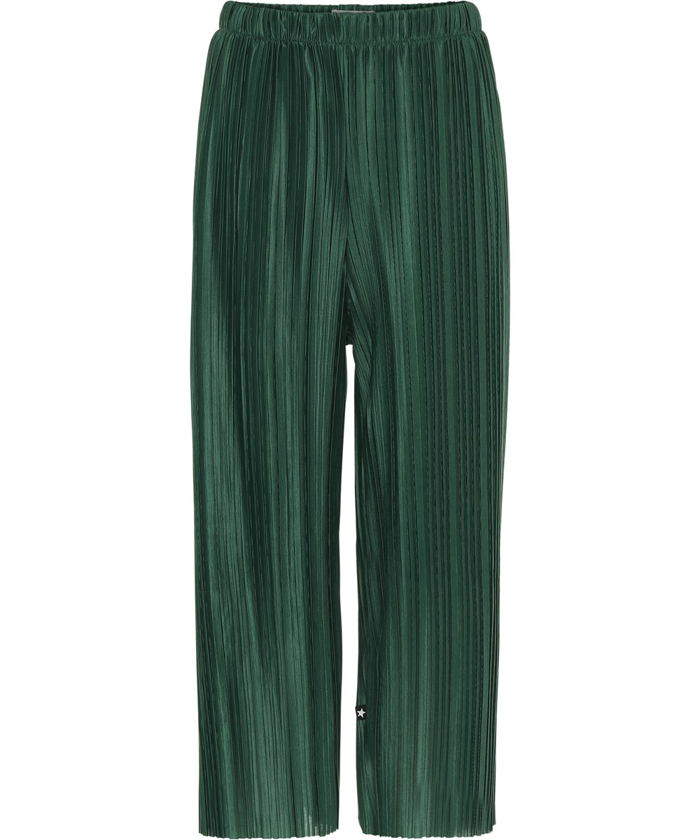Aliecia - Jungle - Pleated green culottes