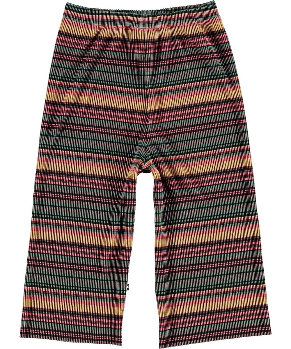 Aliecia - Multi Stripe Pleats - Culottes with stripes.
