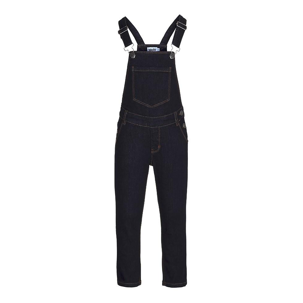 Alika - Raw Indigo - dark blue denim overalls
