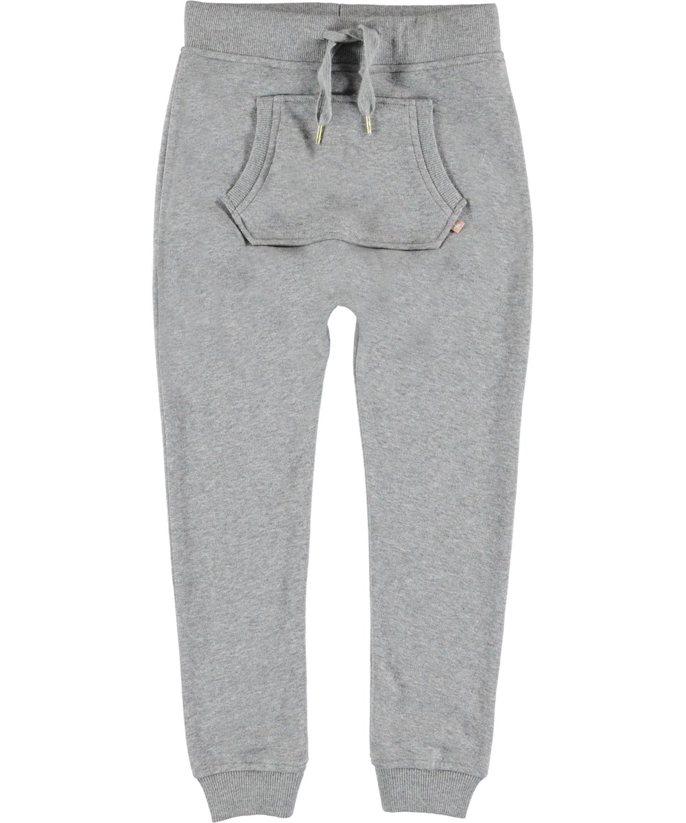 Aliki - Shimmer Grey - Sporty grey sweatpants.