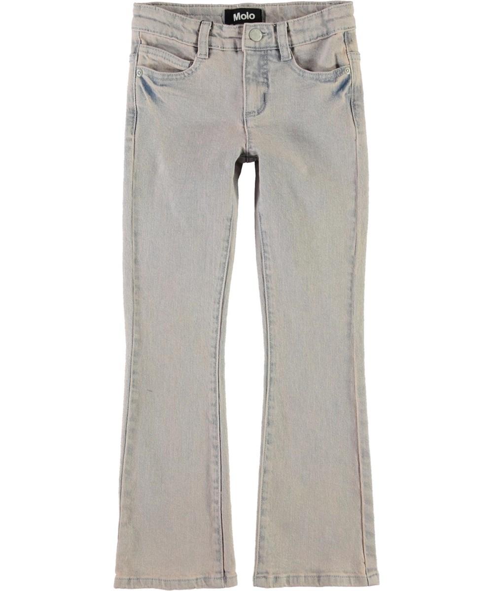 Aliza - Blush Blue Wash - Blue-rose denim jeans with flare