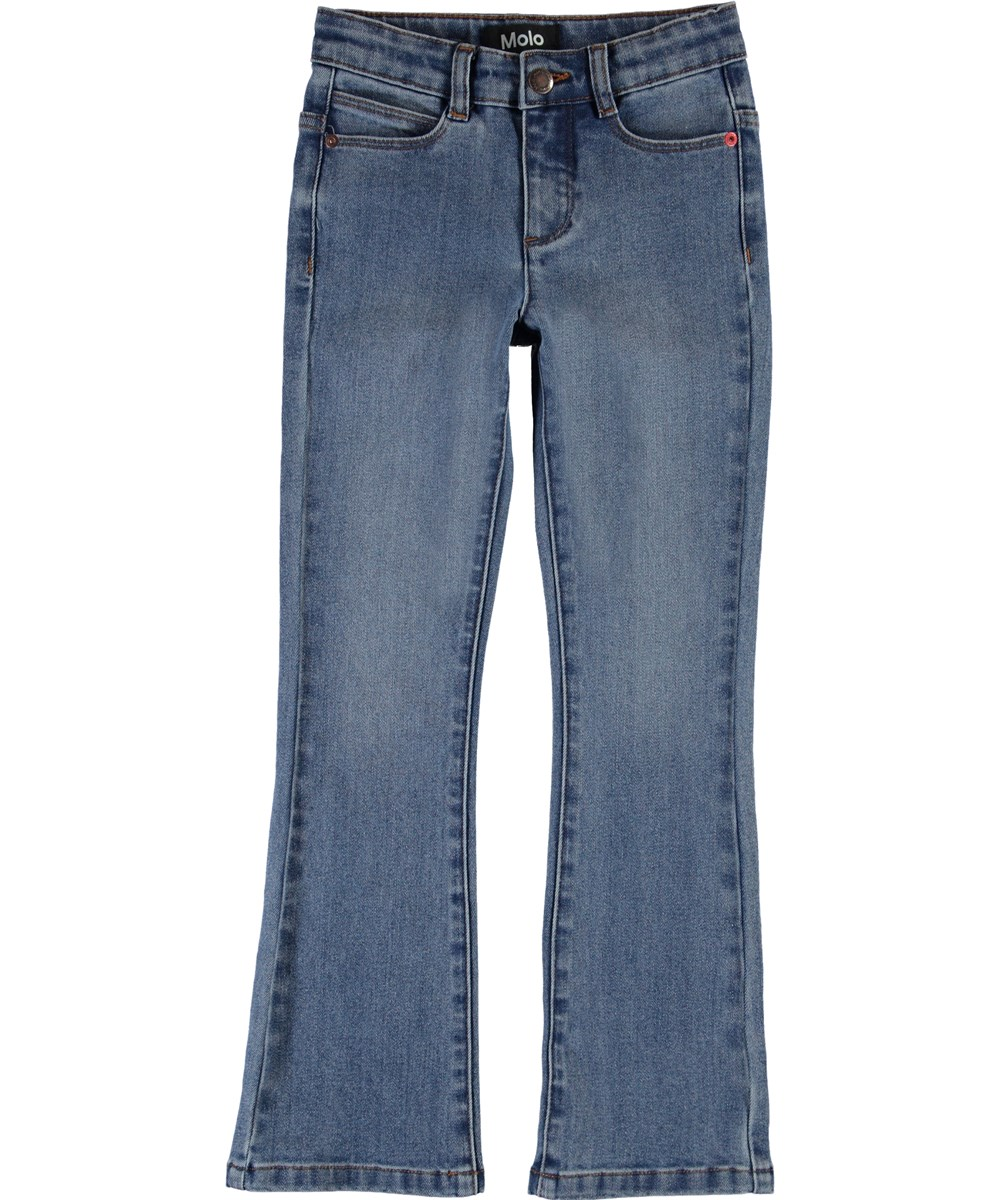 Aliza - Mid Blue Wash - Blue jeans with flare