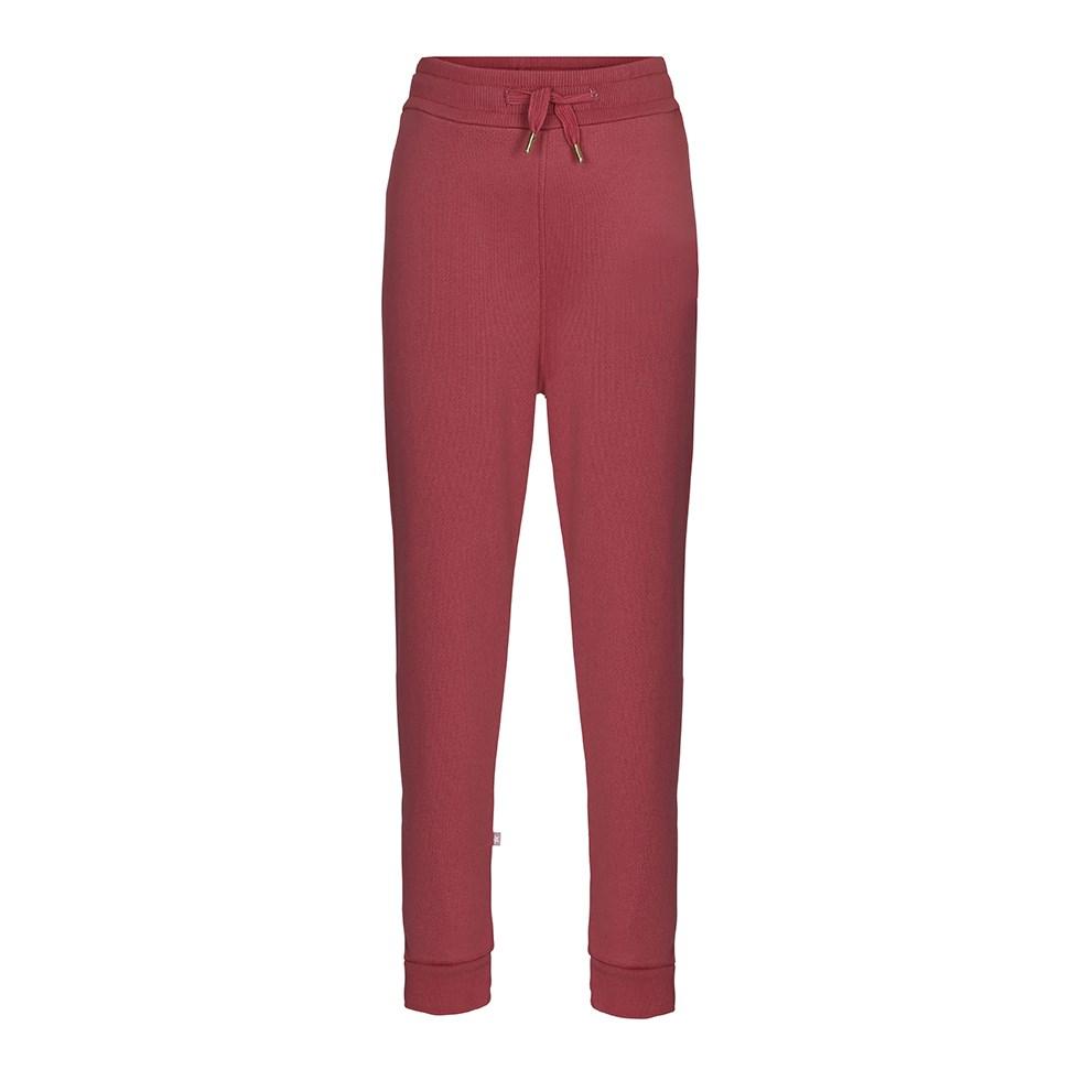Alvinna - Autumn Berry - Dark red sweatpants with ties