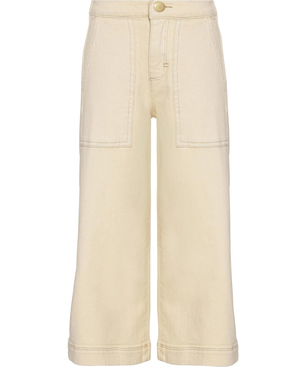 Alyna - Banana Crepe - Light yellow culotte jeans