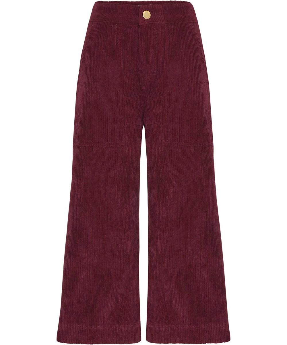 Alyna - Sumak - Dark red corduroy culotte trousers