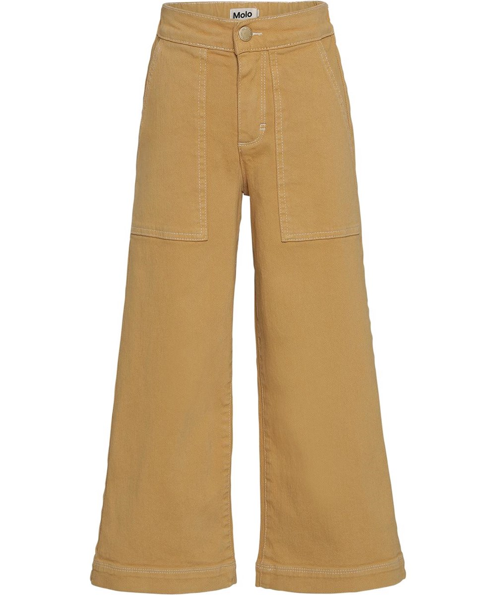 Amelie - Honey - Wide yellow trousers