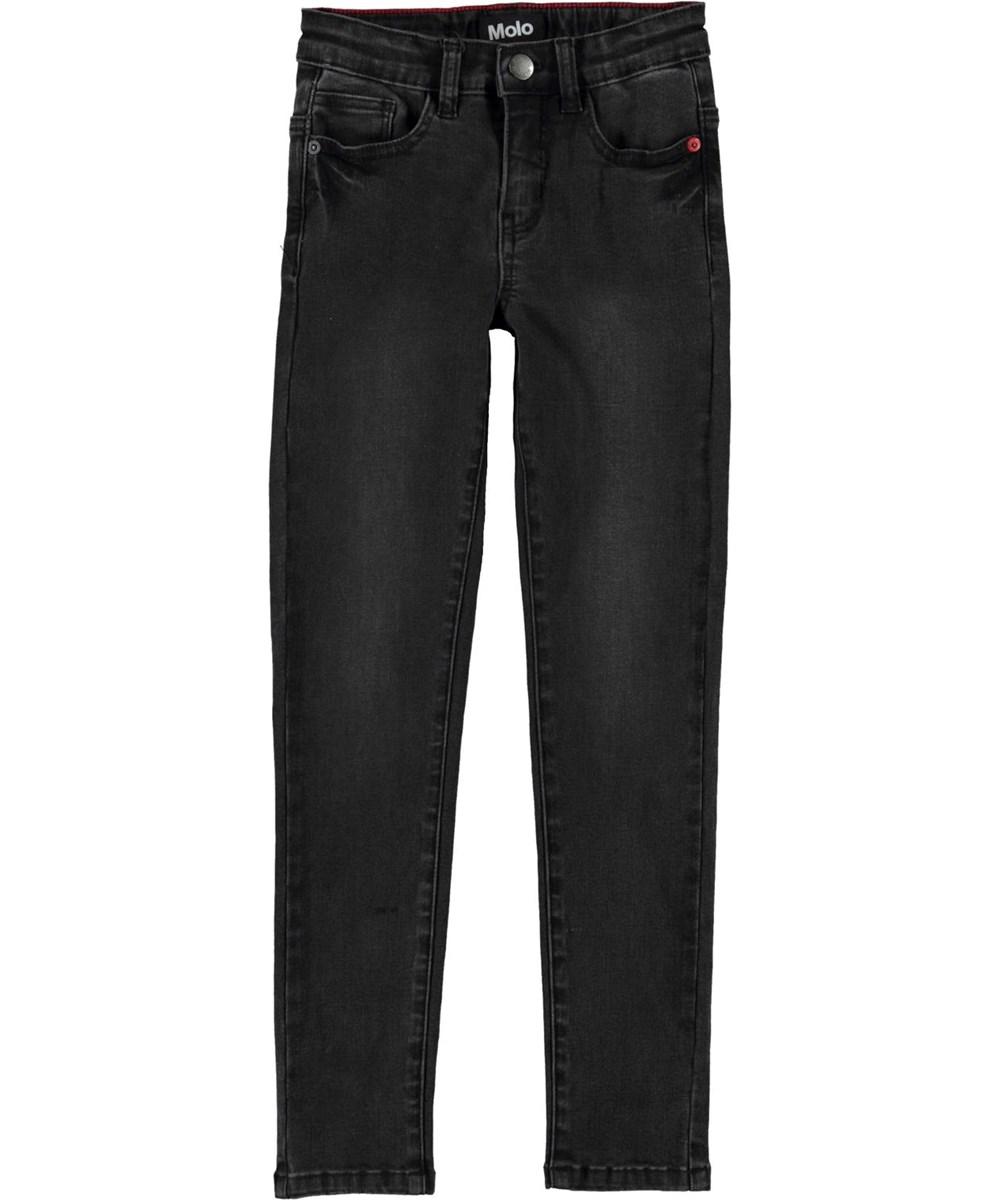 Angelica - Black Shade - Black organic slim jeans