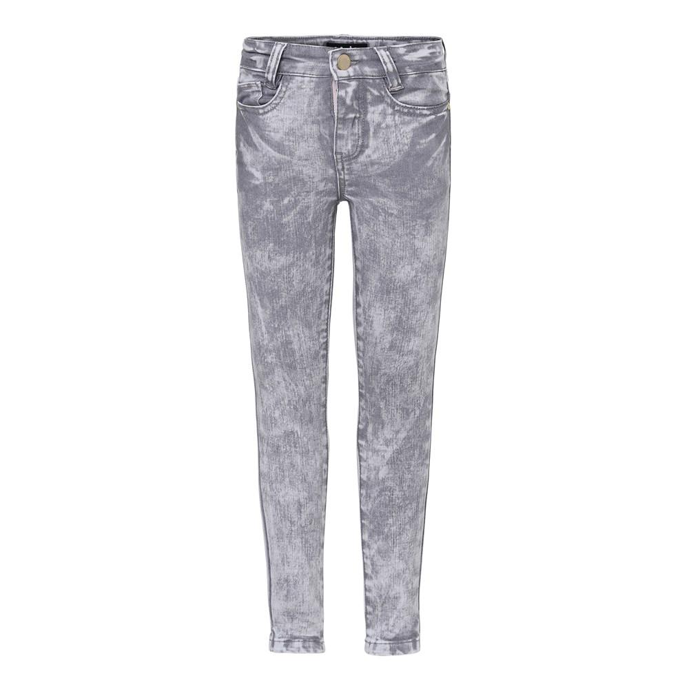 Angelica - Bleach Grey Stretch Denim - Grey slim fit jeans.