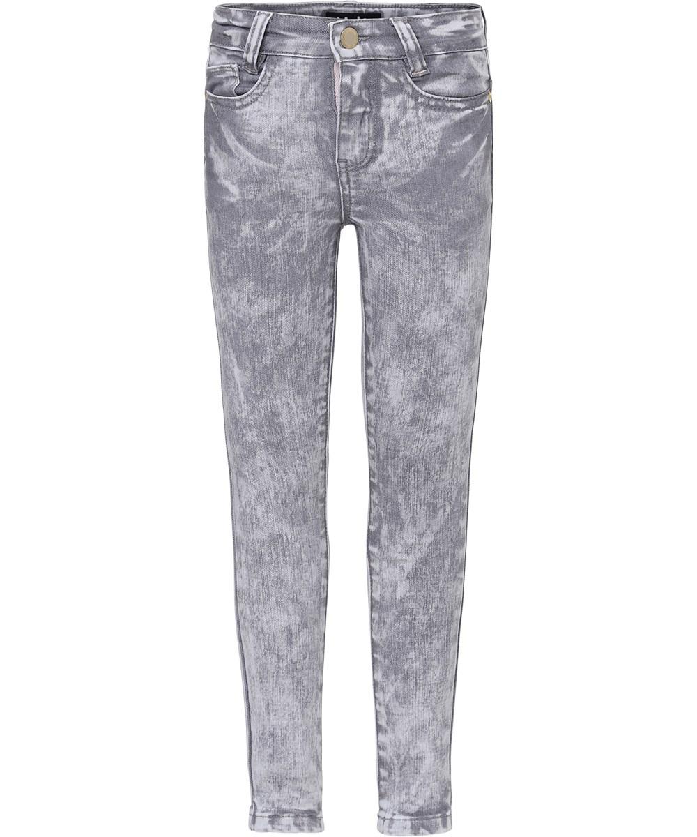Angelica - Bleach Grey Stretch Denim - Jeans