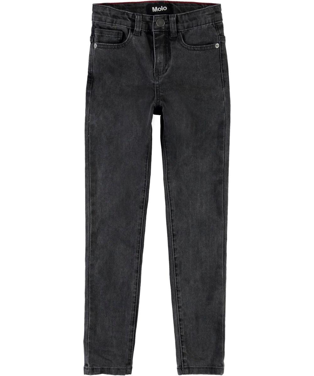 Angelica - Bluish Black - Black slim fit jeans