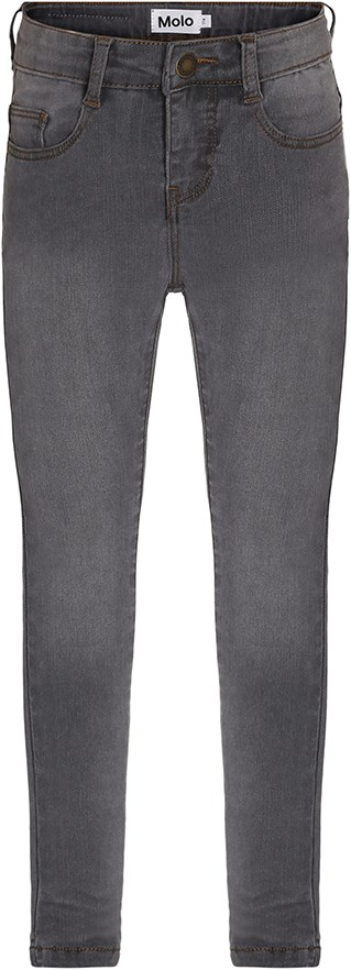 Angelica - Slim Grey - Dark grey, extra slim fit jeans