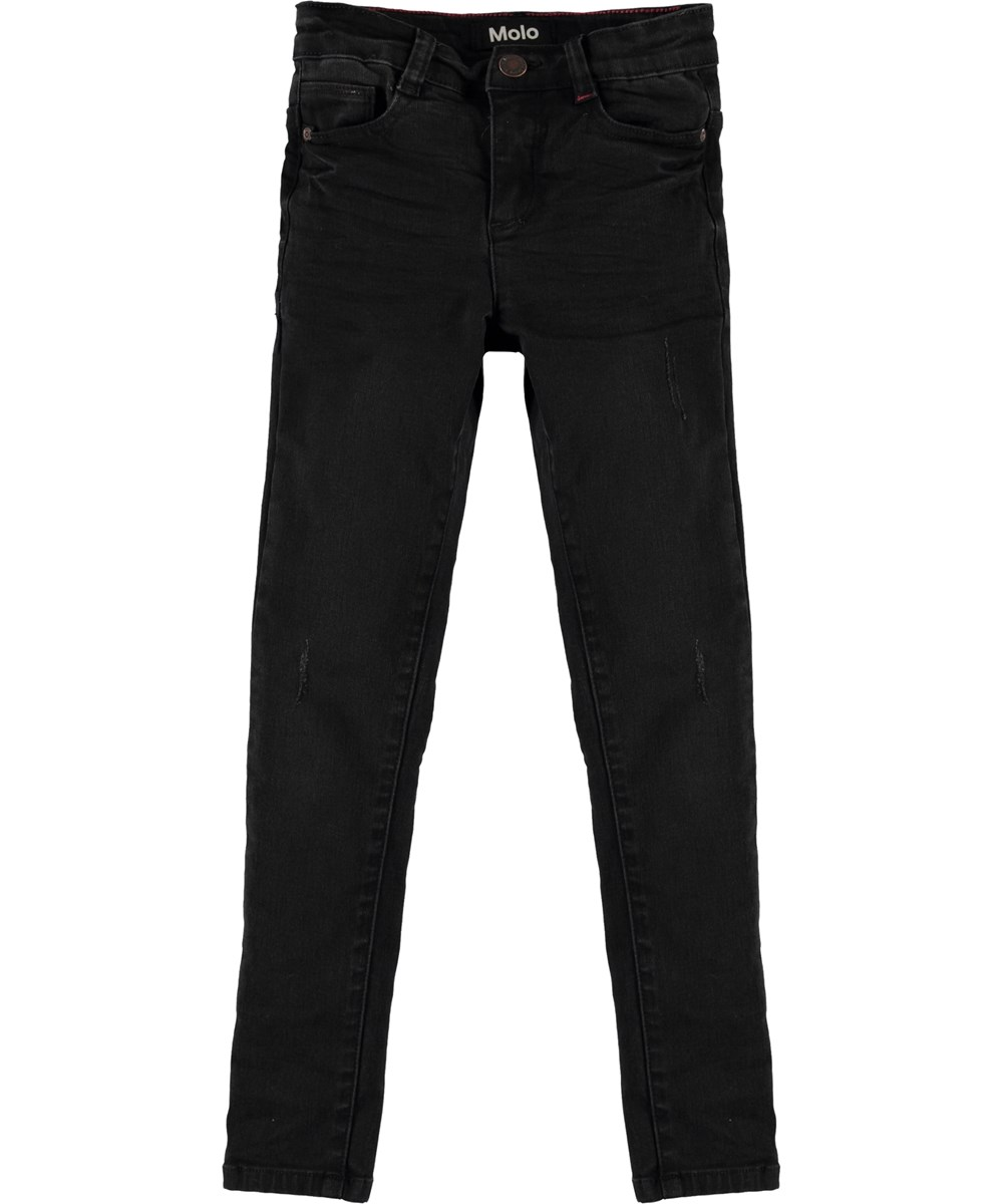 Angelica - Washed Black - Black slim jeans