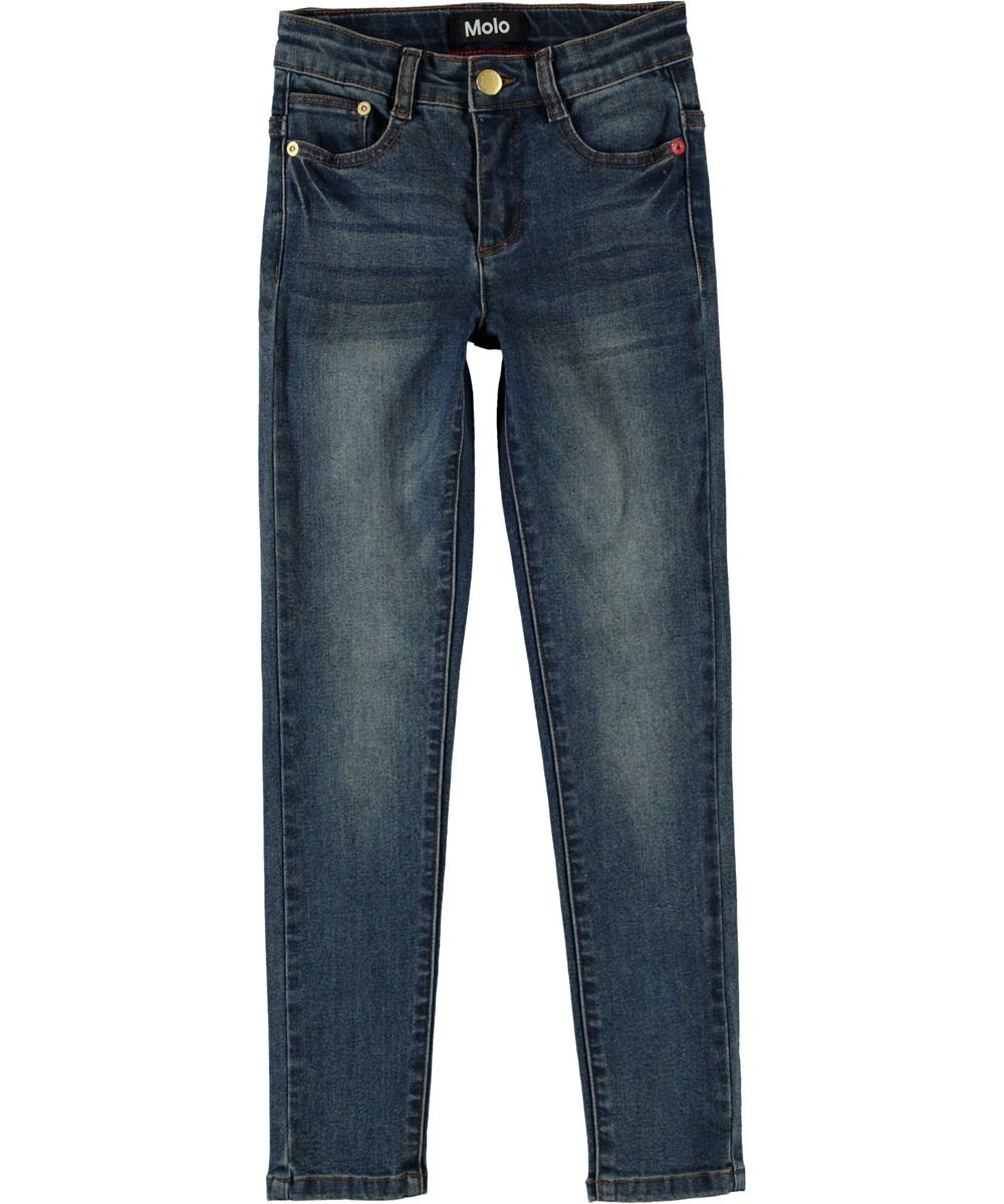 Angelica - Washed Dark Blue - Blue slim fit jeans