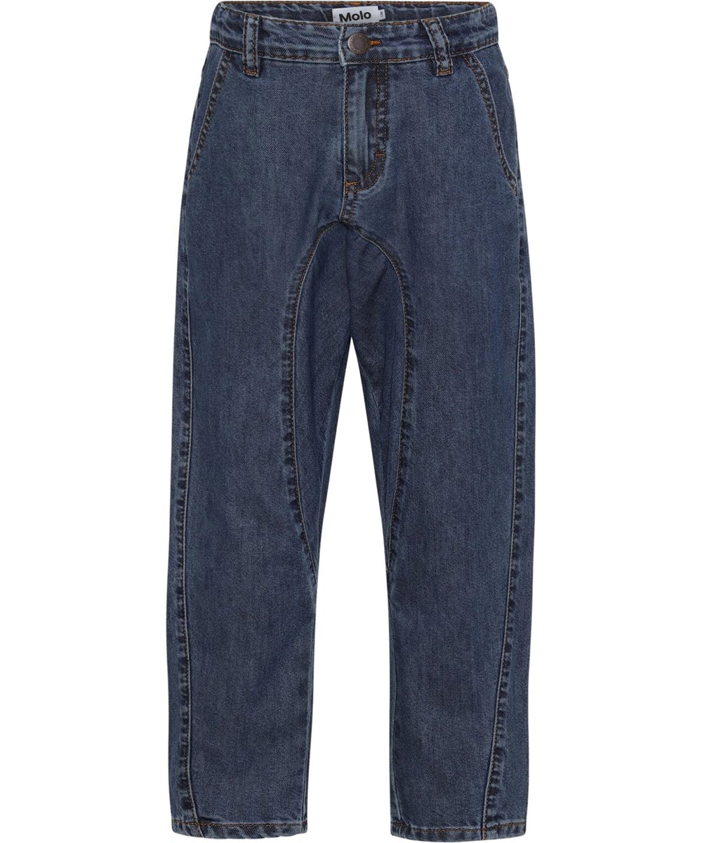 Anouk - Washed Indigo - Loose denim jeans in a casual look
