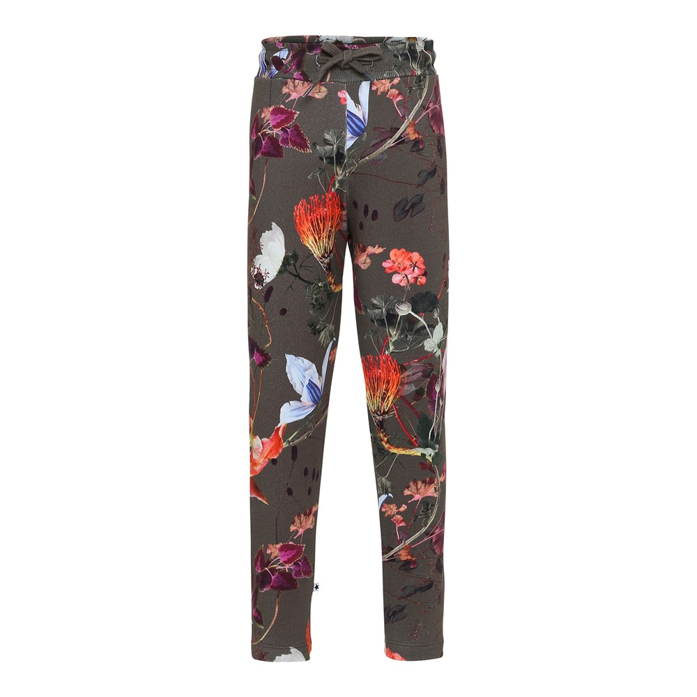 Antonia - Evergreen Flowers - Flower sweatpants.