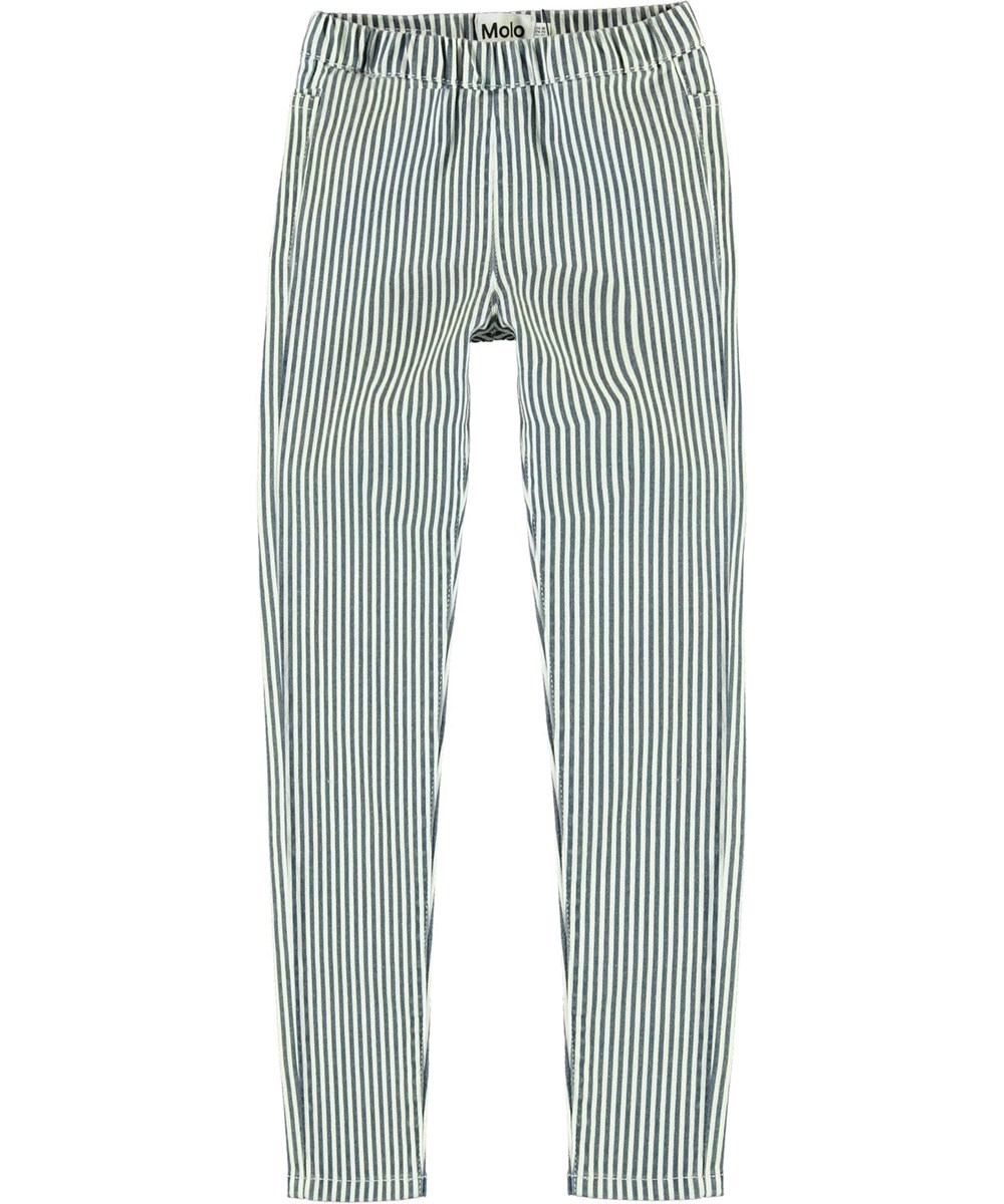 April - Eclipse Stripe - Blue and white striped jeggings