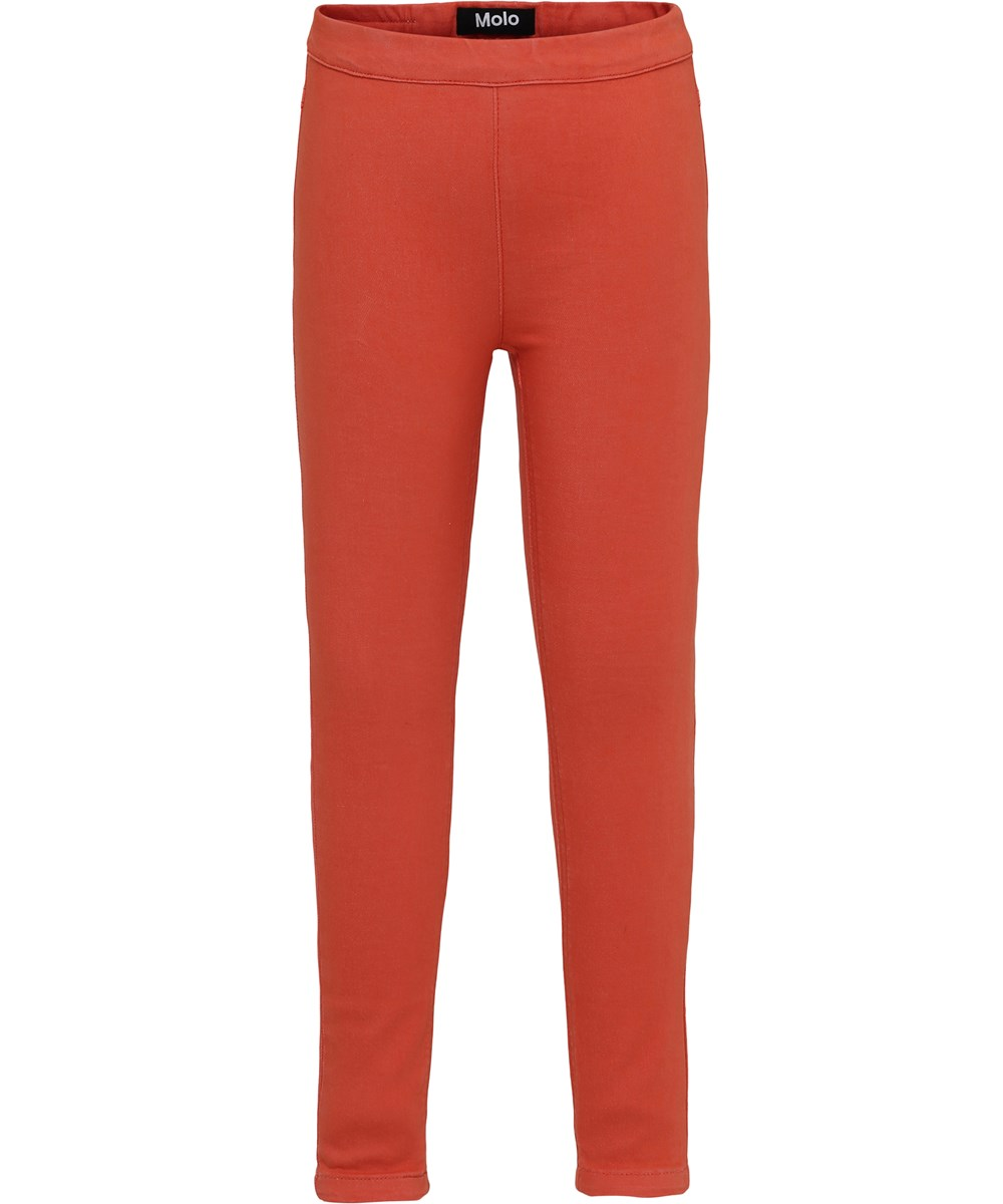 April - Hot Coral - Jeggings