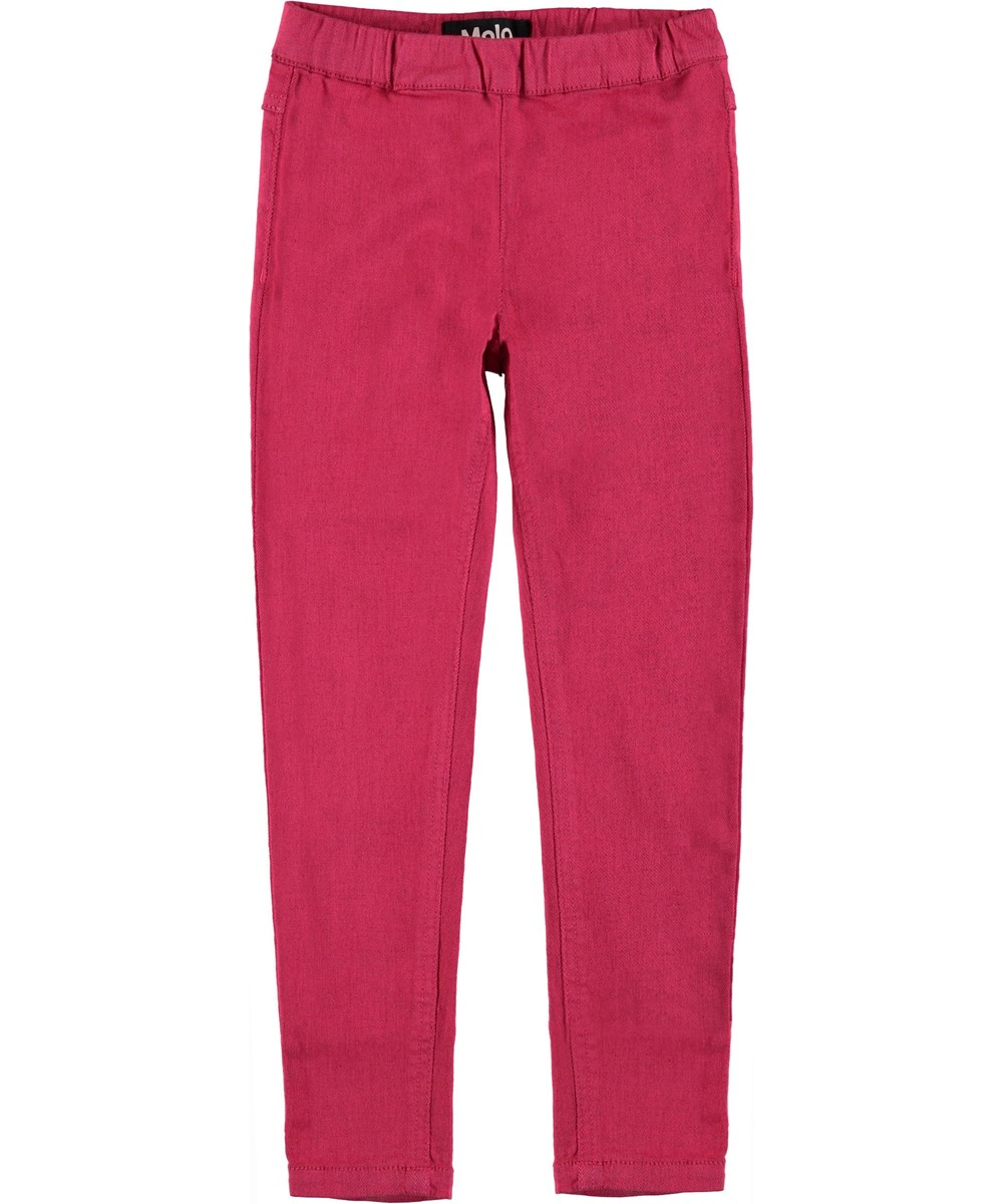 April - Raspberry Kick - Pink jeggings.