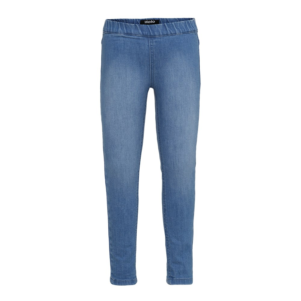 April - Soft Blue - Blue washed jeggings.