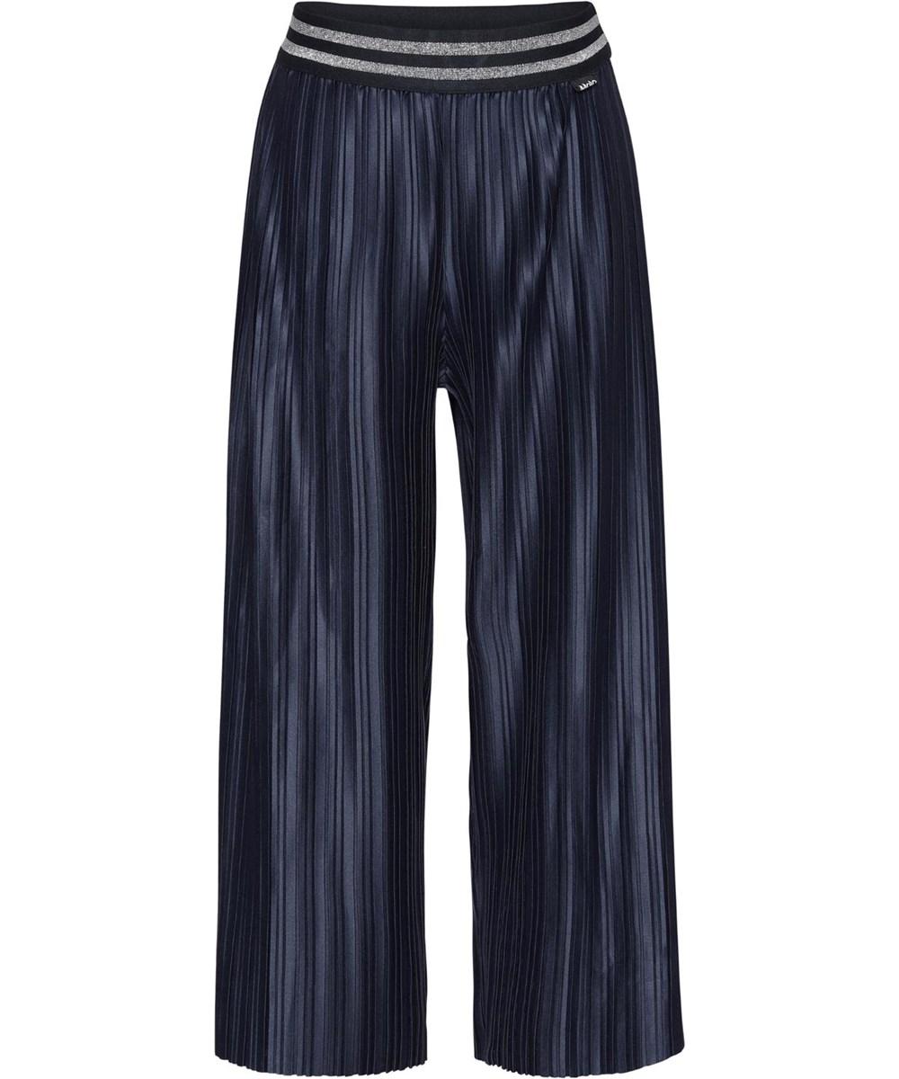 Arlene - Total Eclipse - Dark blue pleated trousers