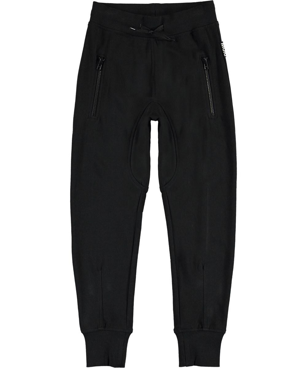 Ashley - Black - Organic black sweatpants