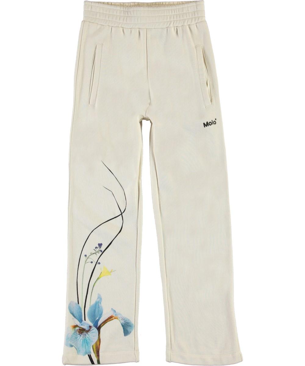 Aurita - Ikebana Place - Light coloured sweatpants with flowers