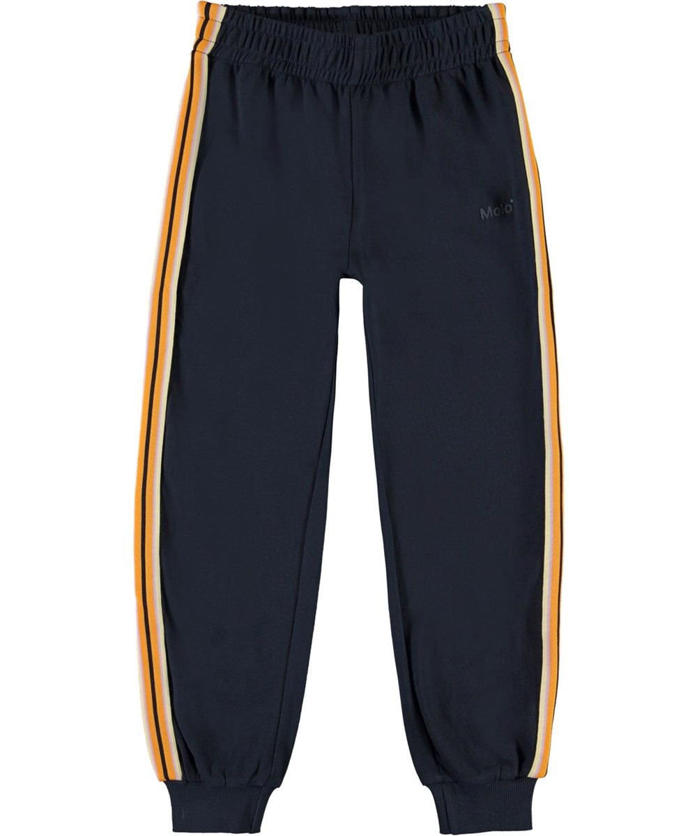 Ava - Total Eclipse - Blue sweatpants with striped band