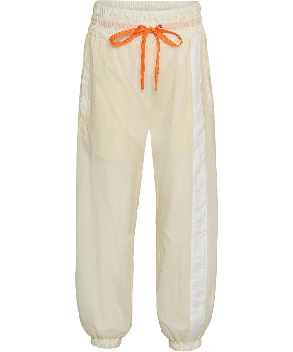 Oleen - Pearled Ivory - Light yellow sports trackpants