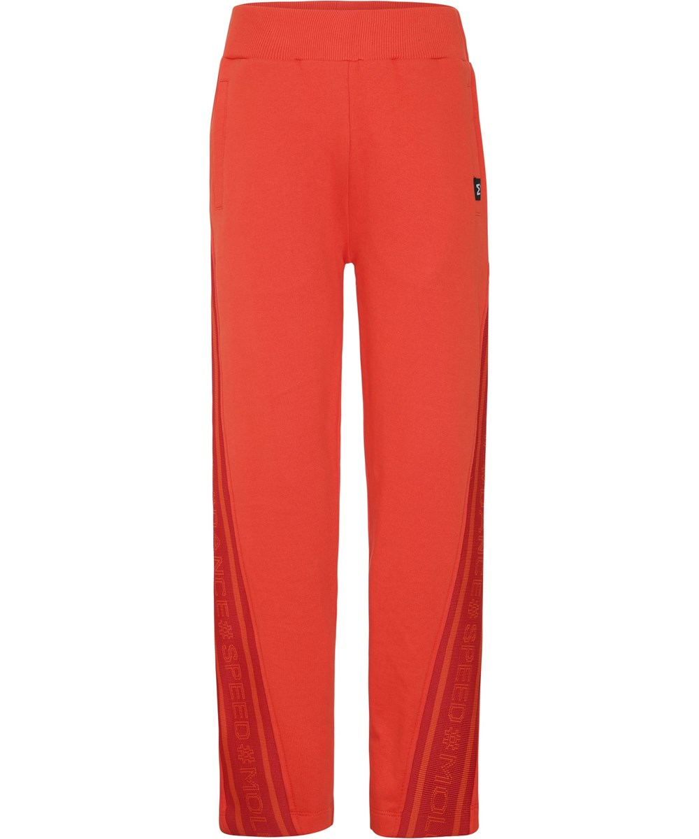 Ozella - Coral Red - Red sporty sweatpants