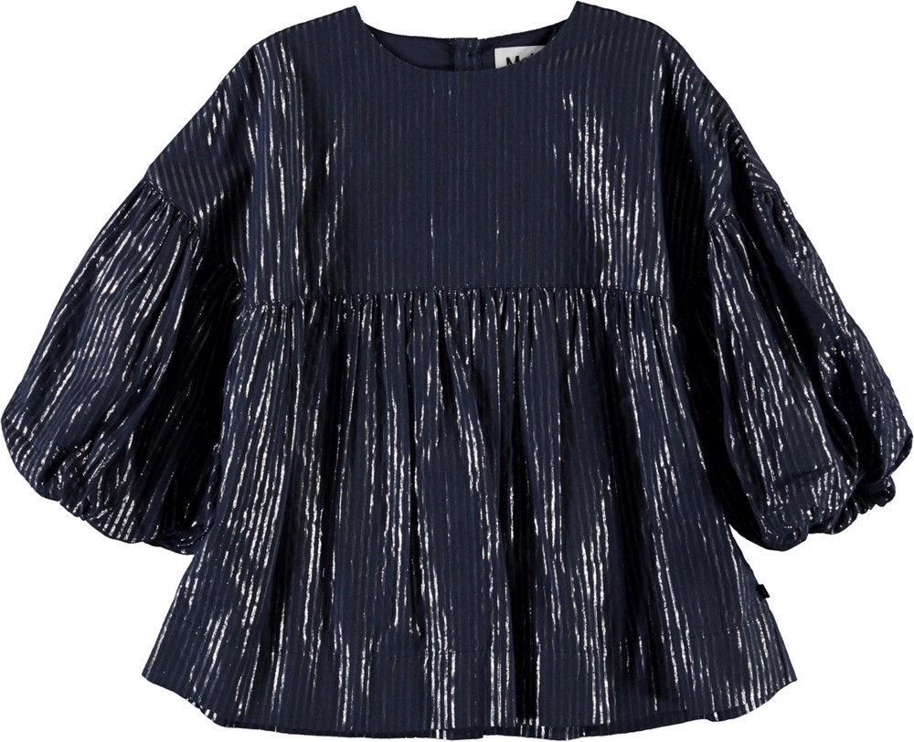 Raja - Total Eclipse - Blue top with silver stipes
