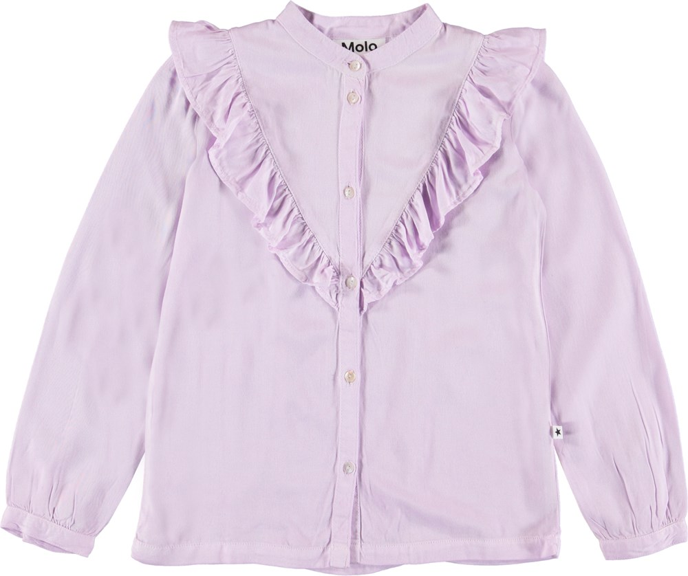Rassine - Frozen Lilac - Purple shirt with ruffle.