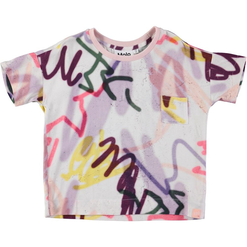 Rheta - Graffiti - short sleeve t-shirt with grafitti print