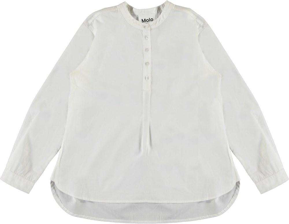 Runaris - White Star - White organic shirt