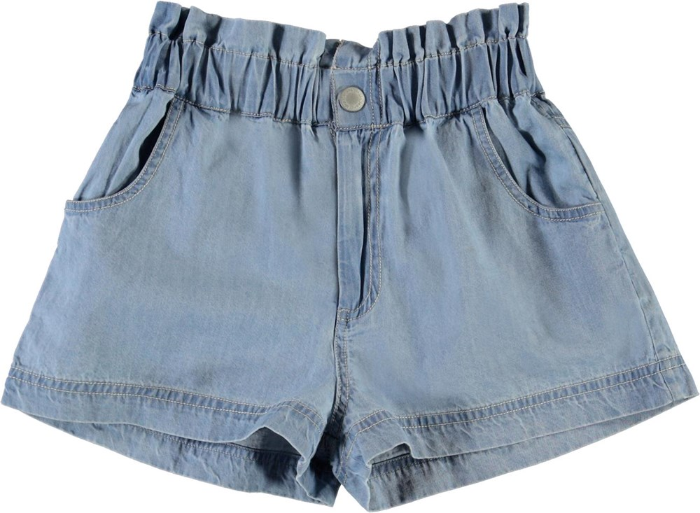 Adara - Summer Wash Indigo - Light denim shorts