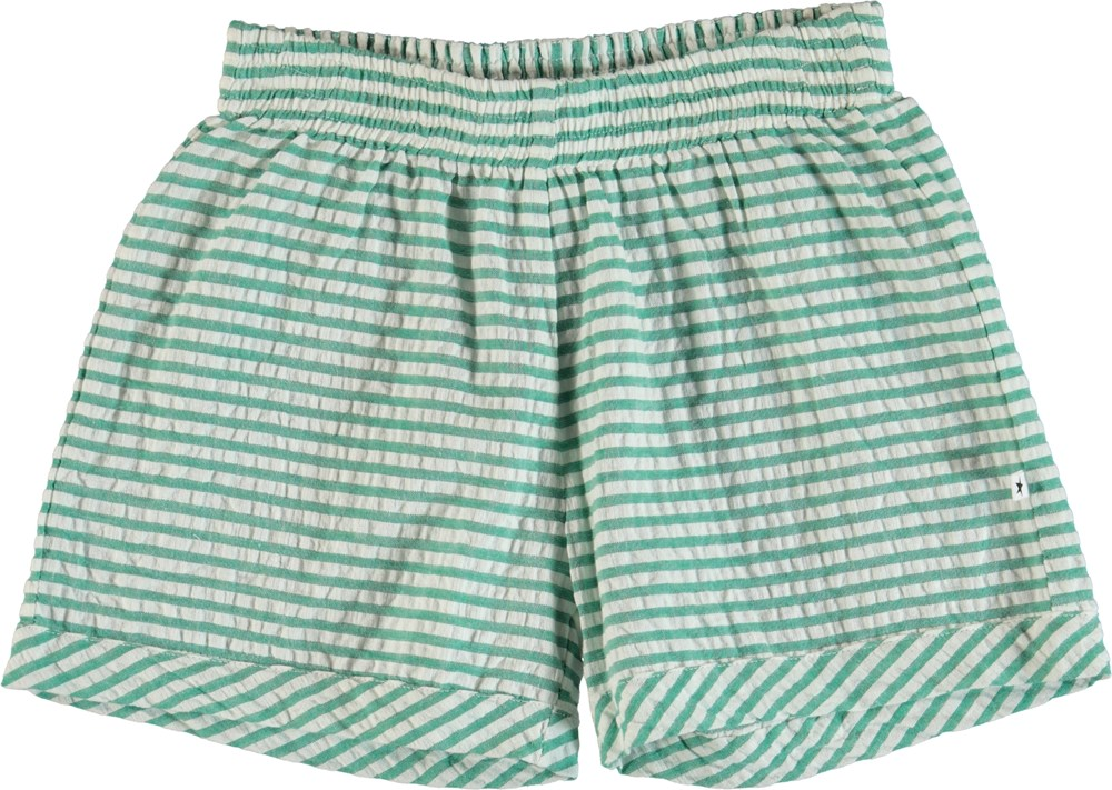 Agatha - Green Stripe - Shorts