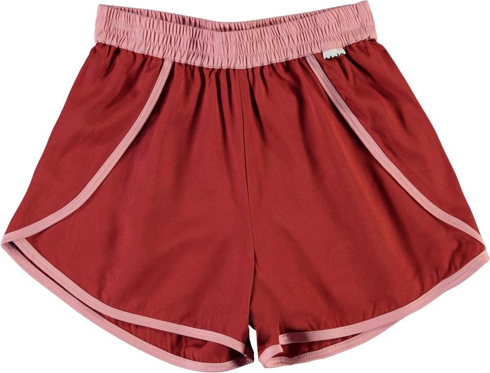 Aja - Bossa Nova - Red sporty shorts with rose