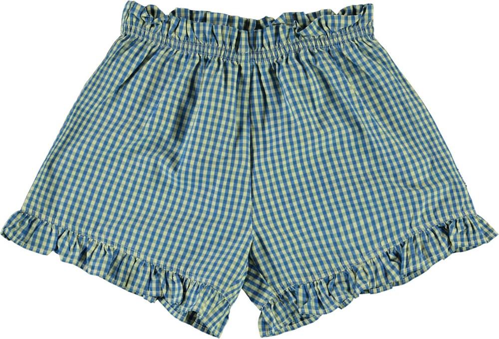 Alandra - Vintage Check - Blue plaid shorts