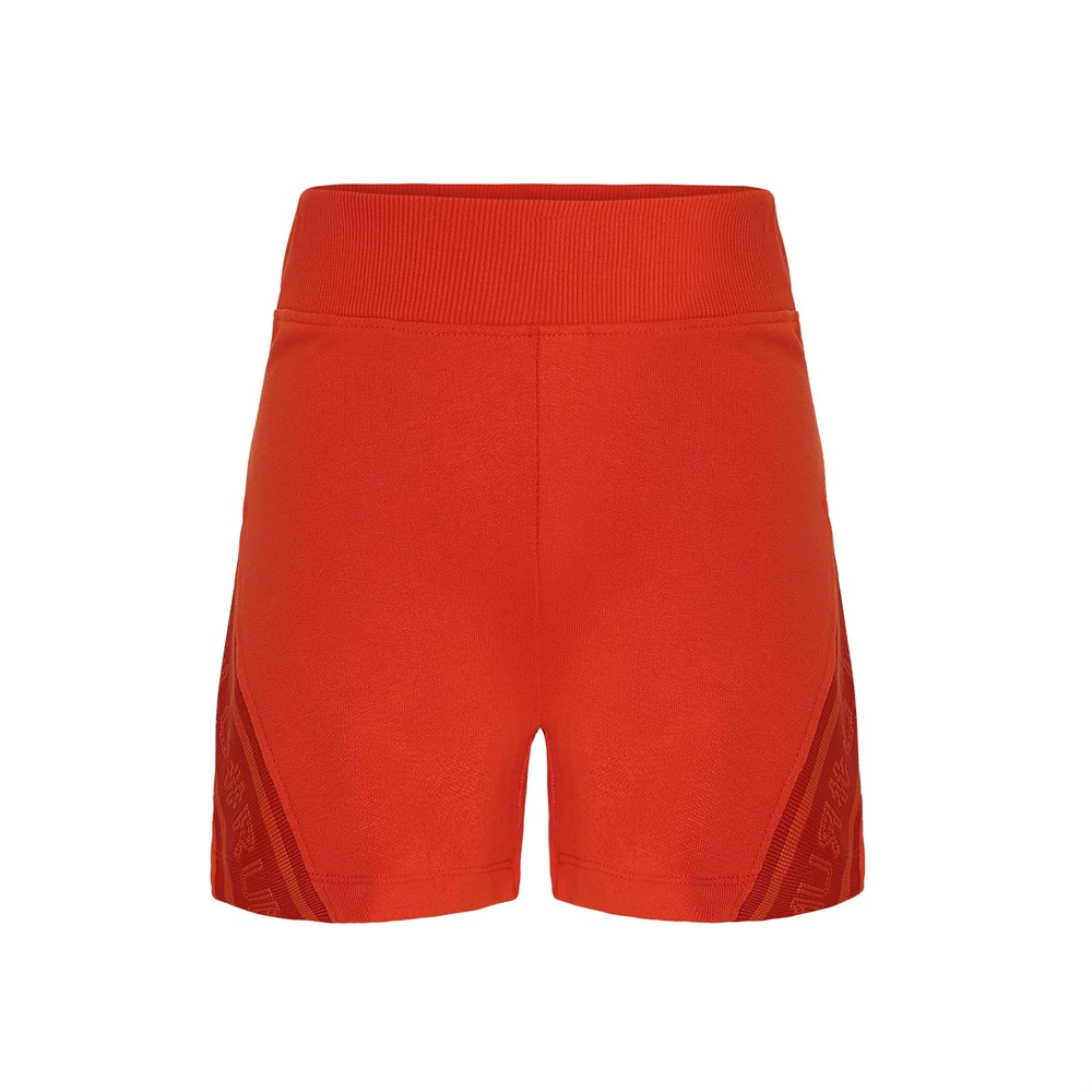 Oki - Coral Red - Red sporty shorts