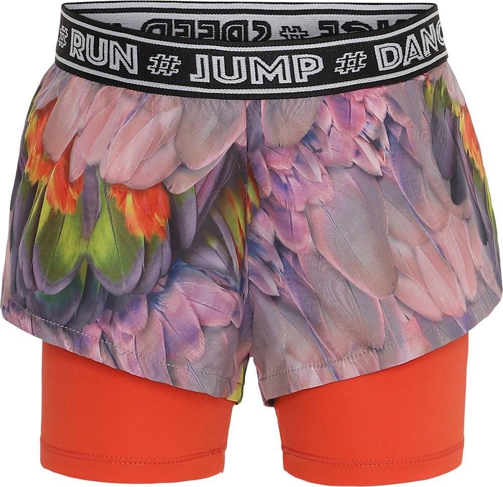 Omari - Cacatua - Floral sports shorts