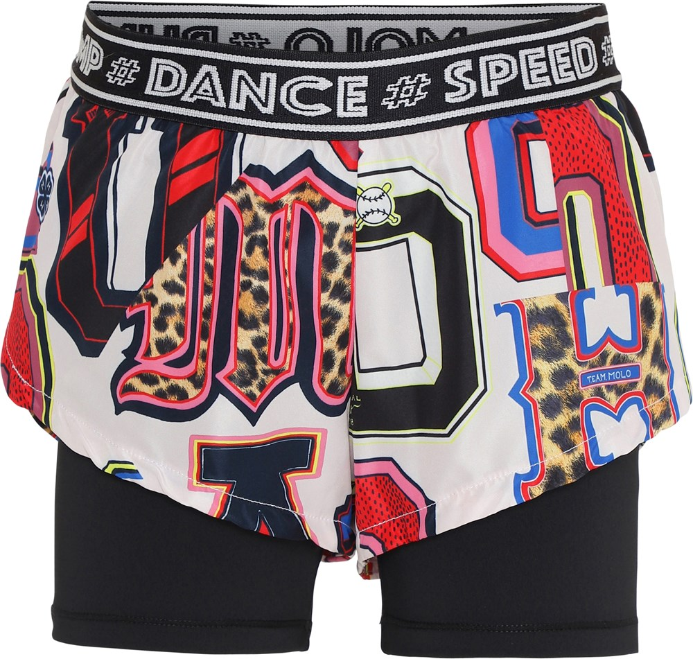 Omari - Typo - Sports shorts with letter print